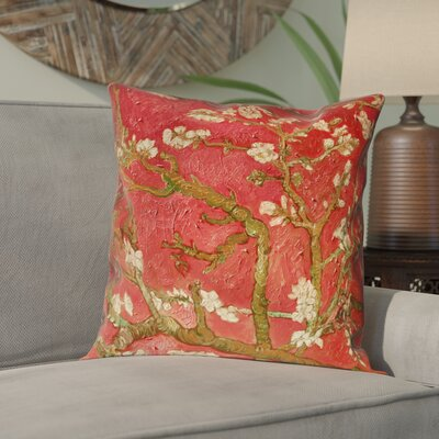 Lei Almond Blossom Outdoor Throw Pillow Color: Orange, Size: 20 x 20