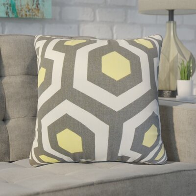 Wolfenbarger Geometric Cotton Throw Pillow Color: Gray