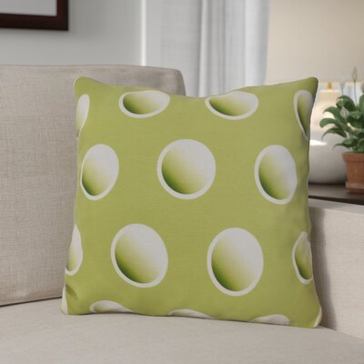 Dip Dye Dots Throw Pillow Size: 26 H x 26 W, Color: Green