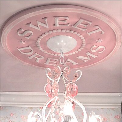 Sweet Dreams Ceiling Medallion Color: Pink