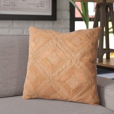 Isidro Linen/Suede Throw Pillow Color: Cognac
