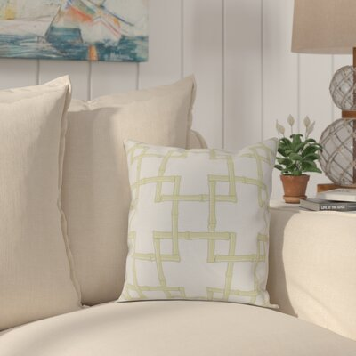 Connelly Bamboo 2 Geometric Throw Pillow Size: 18 H x 18 W, Color: Green