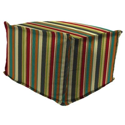 Wilford Flange Edge Pouf Ottoman with Cushion 616CC7B1C67F475E90884F663DFE43CC