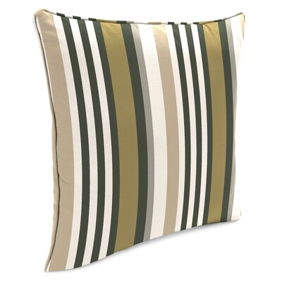 Bellwood Accessory Toss Indoor/Outdoor Throw Pillow Color: Green/White