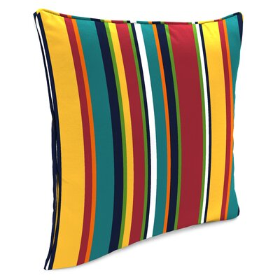 Bellwood Accessory Toss Indoor/Outdoor Throw Pillow Color: Red/White