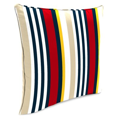 Bellwood Accessory Toss Indoor/Outdoor Throw Pillow Color: Red/Yellow