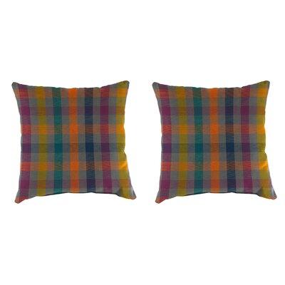 Morganti Accessory Toss Indoor/Outdoor Throw Pillows, Set of 2 Color : Orange/Yellow/Green