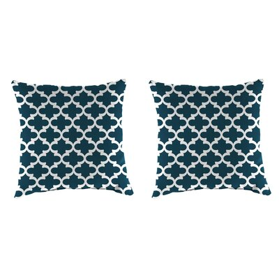 Wilken Accessory Toss Indoor/Outdoor Throw Pillow Color : Blue, Size: 18 H x 18 W x 4 D