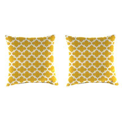 Wilken Accessory Toss Indoor/Outdoor Throw Pillow Color : Yellow, Size: 18 H x 18 W x 4 D