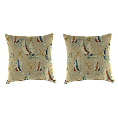 Cuccia Accessory Toss Indoor/Outdoor Throw Pillow Size: 18 H x 18 W x 4 D