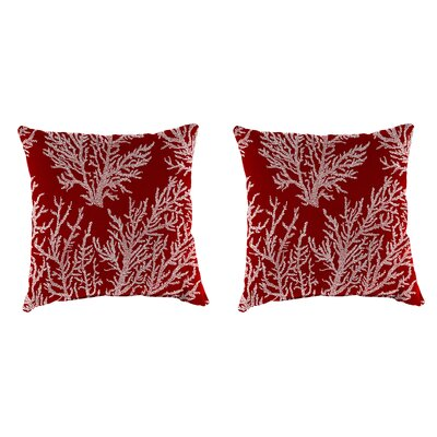 Clairlea Accessory Toss Indoor/Outdoor Throw Pillow Color : Red, Size: 18 H x 18 W x 4 D