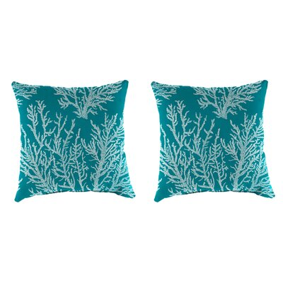 Clairlea Accessory Toss Indoor/Outdoor Throw Pillow Color : Turquoise, Size: 16 H x 16 W x 4 D