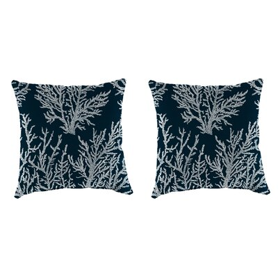 Clairlea Accessory Toss Indoor/Outdoor Throw Pillow Color : Navy, Size: 16