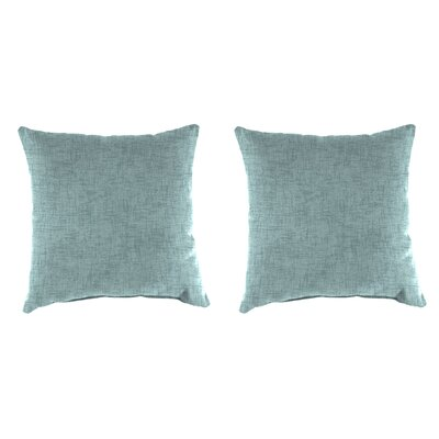 Wilkerson Set of 2, 16 Accessory Toss Pillows - Jackson Blue Stone Fabric: Jackson Blue Stone, Size: 18 H x 18 W x 4 D