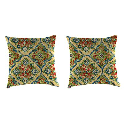 Dossantos Accessory Toss Indoor/Outdoor Throw Pillow Size: 18 H x 18 W x 4 D