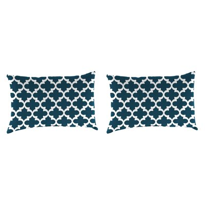 Willilams Accessory Toss Indoor/Outdoor Lumbar Pillow Pillow Cover Color: Blue/White