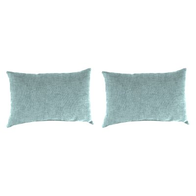 Willams Accessory Toss Indoor/Outdoor Lumbar Pillow Color: Blue Stone