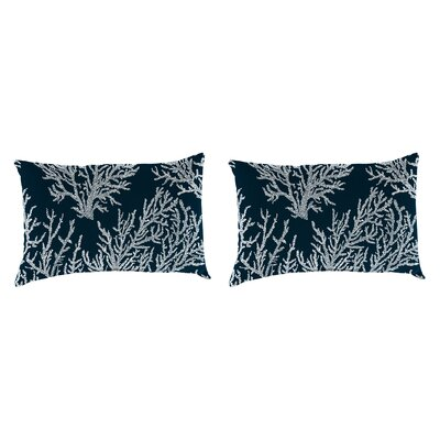 Clapper Accessory Toss Indoor/Outdoor Lumbar Pillow Color: Navy