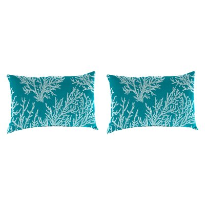 Clapper Accessory Toss Indoor/Outdoor Lumbar Pillow Color: Turquoise