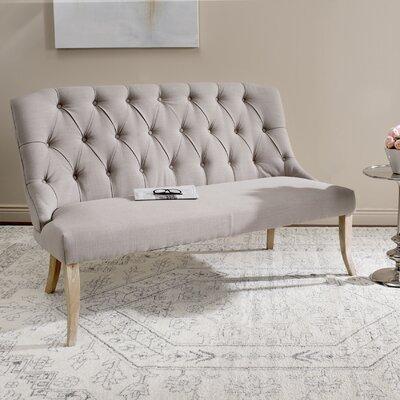 Courtnay Settee Upholstery: Beige