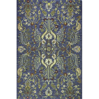 Croom Hand-Tufted Wool Blue Area Rug Rug Size: Rectangle 76 x 96