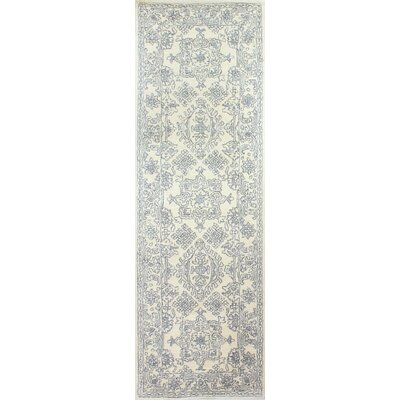 Flori Hand-Tufted Wool Ivory Rug Rug Size: Runner 26 x 8