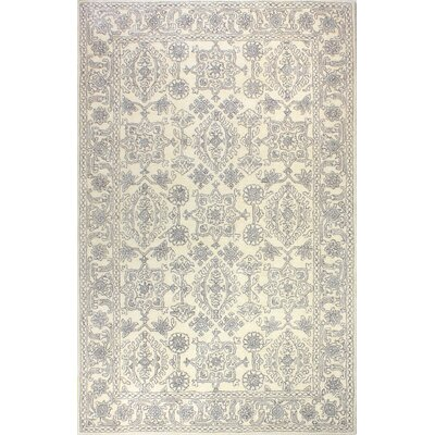 Flori Hand-Tufted Wool Ivory Rug Rug Size: Rectangle 86 x 116