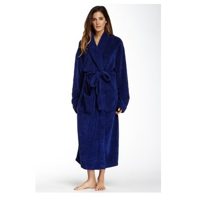 Micro Fleece Bathrobe Color: Crystal Blue