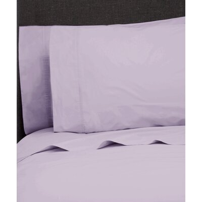 Ealing Pleat Hem 300 Thread Count Percale Sheet Set Size: King, Color: Orchid