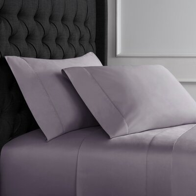 Crossman Hemstitch 600 Thread Count 100% Cotton Sheet Set Size: Twin, Color: Amethyst
