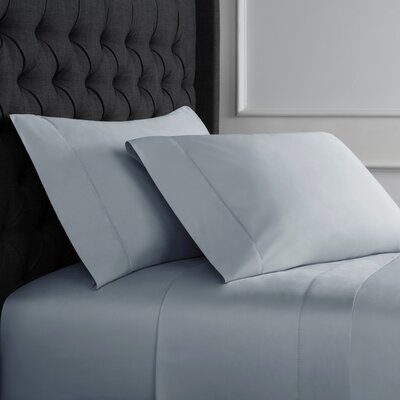 Crossman Hemstitch 600 Thread Count 100% Cotton Sheet Set Size: Queen, Color: Blue