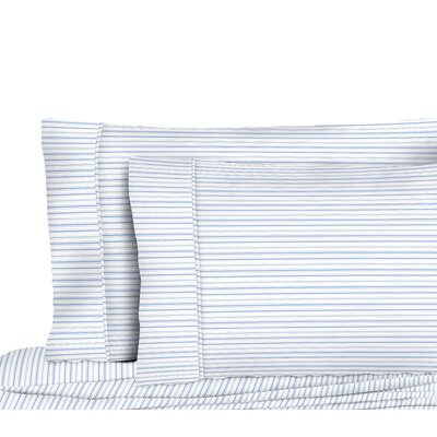 Dimartino Shirt Stripe Pillow Case Color: Blue