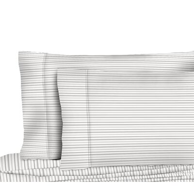 Dimartino Shirt Stripe Pillow Case Color: Gray