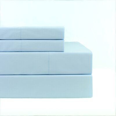 300 Thread Count Percale Sheet Set Size: Twin, Color: Bay Blue