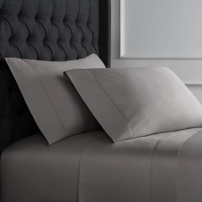 Crossman Hemstitch 600 Thread Count 100% Cotton Sheet Set Size: Queen, Color: Charcoal Gray