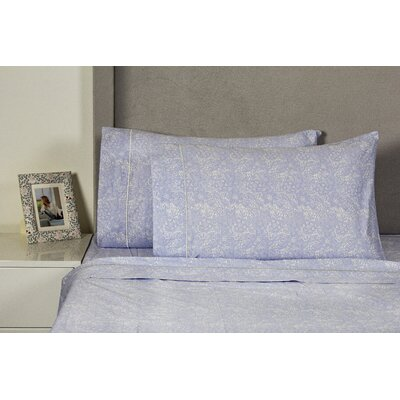 Quesada Lace 400 Thread Count 100% Cotton Sheet Set Size: California King, Color: Lilac