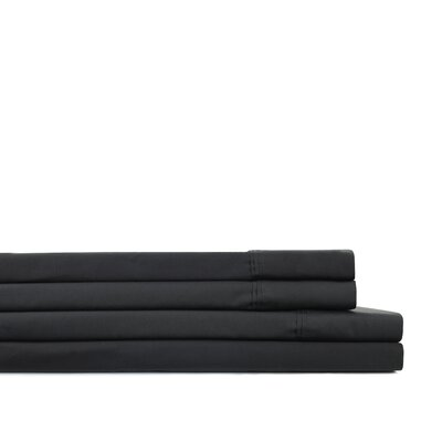 Krier Pleat Hem 300 Thread Count Percale Sheet Set Size: Full