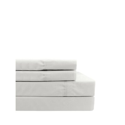 Coulter Pleat Hem 300 Thread Count Percale Sheet Set Size: Twin
