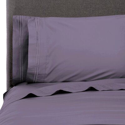 Dillow Stripe Embroidered Pillow Case Color: Amethyst