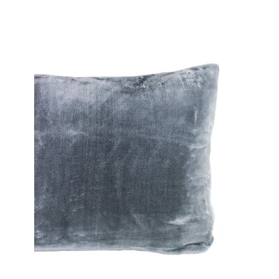 Laufer Velvet Sham Color: Charcoal