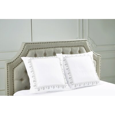 Emborough Embroidered Sham Color: Gray