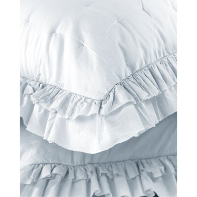 Kirchoff Ruffle Voile Sham Color: Light Blue