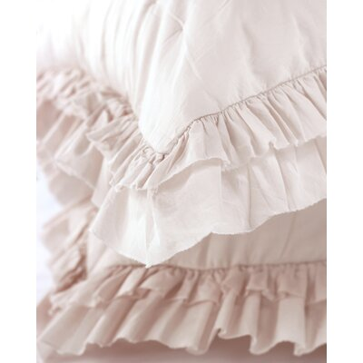 Kirchoff Ruffle Voile Sham Color: Pink Flash
