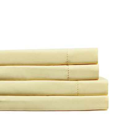 Dilworth Hemstitch Pillow Case Size: King, Color: Yellow