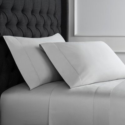 Crossman Hemstitch 600 Thread Count 100% Cotton Sheet Set Size: Twin, Color: Gray