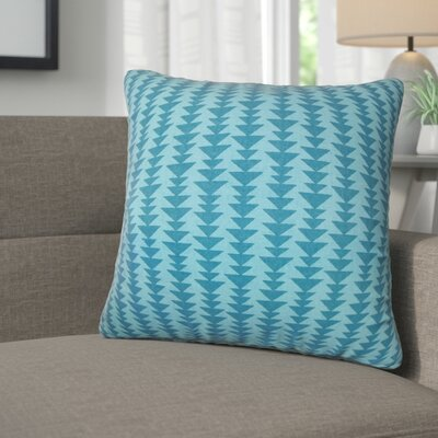 Lorelai Geometric Cotton Throw Pillow Color: Peacock