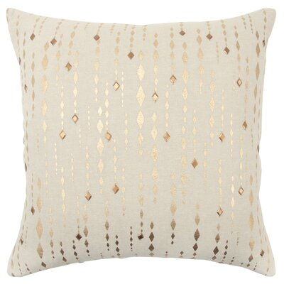 Drage Decorative Cotton Throw Pillow Color: Gold