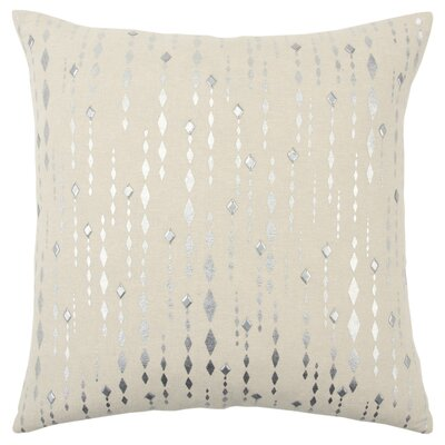 Drage Decorative Cotton Throw Pillow Color: Silver