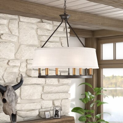Hughett 6-Light Drum Chandelier Finish: Antique Bronze