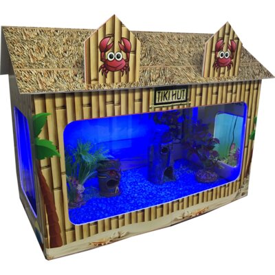 10 Gallon Tiki Hut Aquarium Tank
